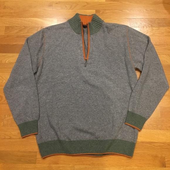 Men/'s Mock Neck Sweater Codice NWT Gray L